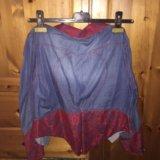 Коротенький джинсовый пиджачок с гипюром 42 р. Фото 2.