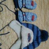 Детская шапочка и варежки. Фото 2. Пермь.