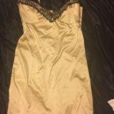 Золотое платье-комбинация. Фото 2. Красногорск.