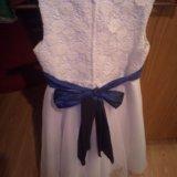 Красивое белое платье на подкладе . для девочки. Фото 1.