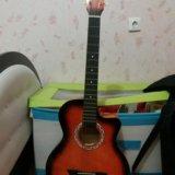 Гитара 6 струн. в месте с чехлом зимним. Фото 2. Москва.