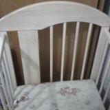 Детская кроватка с ортопедичкским матрацом. Фото 1. Новочеркасск.