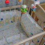 Детская кроватка с ортопедичкским матрацом. Фото 3. Новочеркасск.