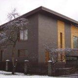Фасадные термопанели с плиткой natural brown. Фото 1.