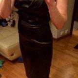 Нарядное атласное платье бюстье. Фото 3.