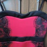 Красное коктейльное платье. Фото 1.