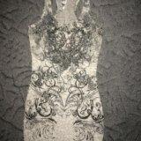 Мини платье 44 р со стразами. Фото 1.