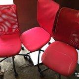 3 стула на колесиках. Фото 1. Москва.