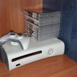 Xbox 360 прошитый lt 3.0 + 10 дисков. Фото 1.