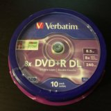 Dvd+r dl 8.5 gb диски. Фото 1. Москва.
