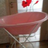 Детская ванночка со складной подставкой. Фото 1. Краснодар.