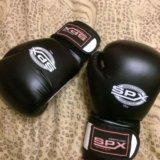 Кожаные перчатки для бокса. Фото 2.