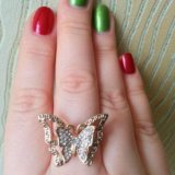 Кольцо-бабочка. Фото 3.