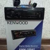 Автомагнитола kenwood kmm-100ay. Фото 1. Ярославль.