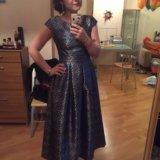 Платье в синий горох merlis atelier. Фото 1. Химки.