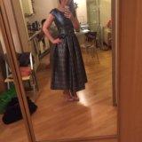 Платье в синий горох merlis atelier. Фото 2. Химки.