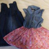Сарафан джинсовый и платье. Фото 1.