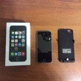 Iphone 5s 16 гб с зарядкой-чехлом. Фото 1.