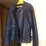 Новая кожаная куртка mango. Фото 3.