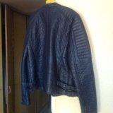 Новая кожаная куртка mango. Фото 4.