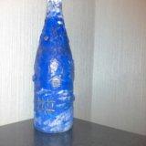 Ручная роспись бутылок к праздникам. Фото 3.