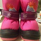Зимние ботинки на девочку 20-21р. Фото 1.