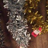 Новогодняя мишура новогодние украшения. Фото 1.