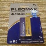 Батарейка крона 9v samsung pleomax alkaline 6lr61. Фото 1. Реутов.