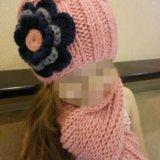 Шапка детская +шарф. Фото 1. Москва.