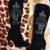 Новые красивые зимние сапоги на худую ножку. Фото 1. Москва.