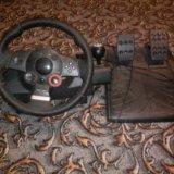 Руль игровой с педалями logitech driving force gt. Фото 2. Майский.