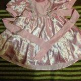Детское атласное платье. Фото 1.