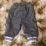 Тёплые штаны на 6-9 месяцев. Фото 1.