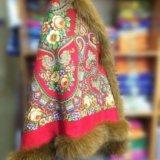 Утепленная накидка из павловопосадского платка. Фото 3. Ивантеевка.