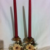 Подсвечники со свечами. Фото 1.
