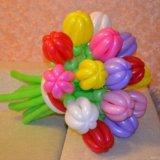 Тюльпанчики из воздушных шариков. Фото 2.