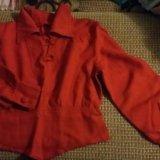 Блуза красная. Фото 1.