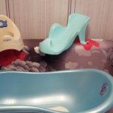 Ванночка , горка для купания и горшок. Фото 1.