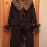 Зимнее пальто с натуральным мехом. Фото 1. Москва.