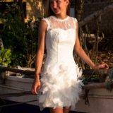 Короткое свадебное платье. Фото 2. Санкт-Петербург.