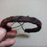 Кожаный браслет. Фото 1. Москва.