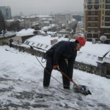 Очистка снега. Фото 1. Омск.
