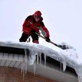Очистка снега. Фото 2. Омск.