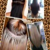 Наращивание волос.капсульное и косичное. Фото 1. Сочи.