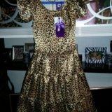 Нарядное новое платье атласное .рост152. Фото 1.