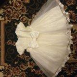 Нарядное пышное платье+ободок 92. Фото 2.
