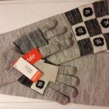 Комплект перчатки и шарф. новый. Фото 1. Москва.