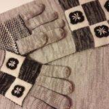 Комплект перчатки и шарф. новый. Фото 2. Москва.