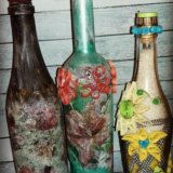 Декорирование бутылок. Фото 1.