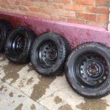 Комплект зимних колёс kumho 195/60 r15 (шипы). Фото 4.